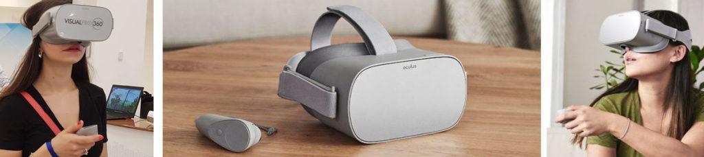 A Milano Roma Torino Affitto OCULS GO visori occhiali realtà virtuale VR oculus htc Vive per fiere meeting realtà aumentata