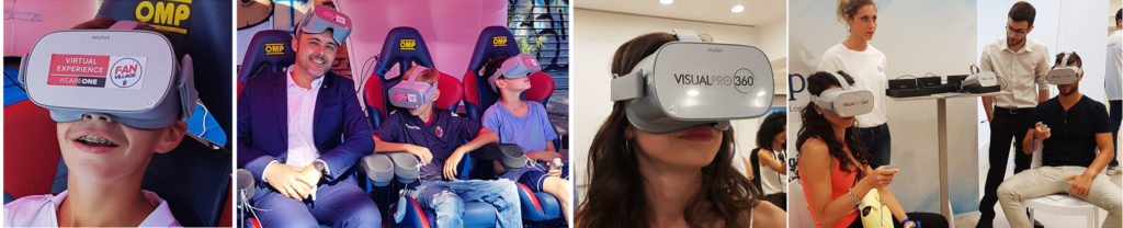 noleggio visori occhiali realtà virtuale VR oculus htc Vive per fiere meeting Milano, Torino Bologna Roma